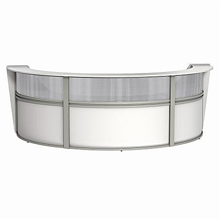 """Linea Italia, Inc 3-Unit 143""""W Curved Reception Desk, White"""