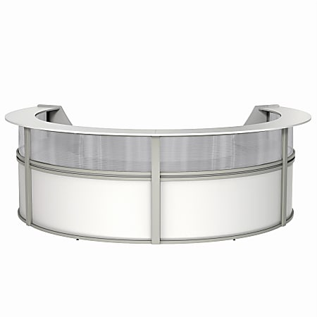 """Linea Italia, Inc 4-Unit 142""""W Curved Reception Desk, White"""