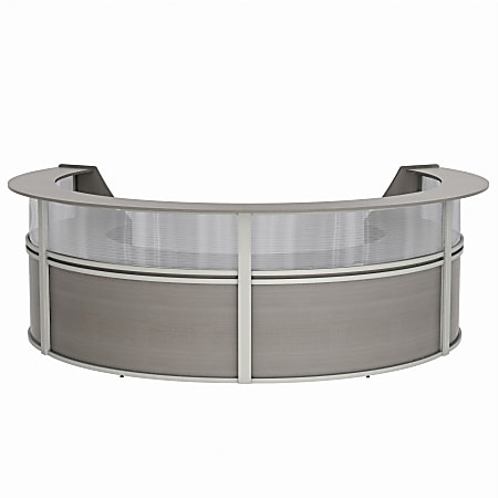 "Linea Italia, Inc 4-Unit 142""W Curved Reception Desk, Ash"