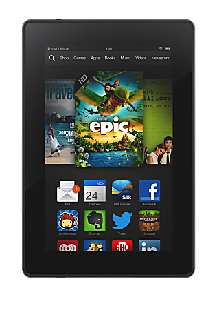 """Amazon Kindle Fire HD Wi-Fi Tablet, 7"""" Screen, 1GB Memory, 8GB Storage, Android"""
