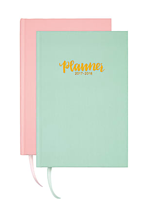 """Divoga® Global Citizens Academic Weekly/Monthly Planner, 8"""" x 5"""", Assorted Colors, July 2017 to June 2018"""
