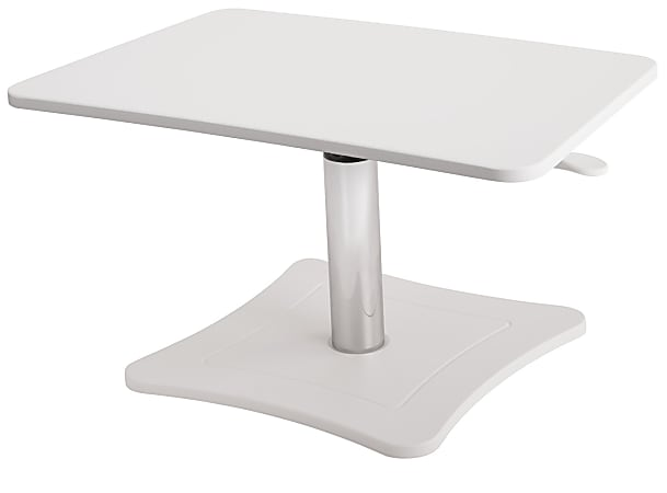"""Victor High™ Rise Collection Height-Adjustable Wood Laptop Riser, 15 1/4""""H x 21""""W x 13""""D, White"""