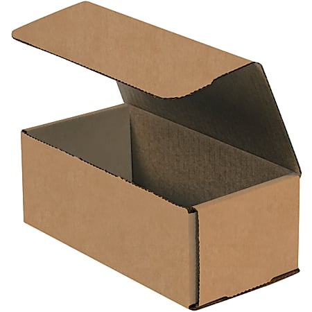"""Office Depot® Brand Corrugated Mailers, 8"""" x 4"""" x 3"""", Kraft, Pack Of 50"""