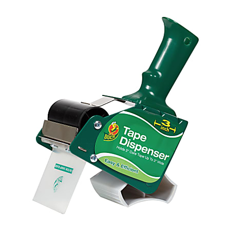 """Duck® Extra-Wide Packaging Tape Dispenser, 3"""" Wide"""