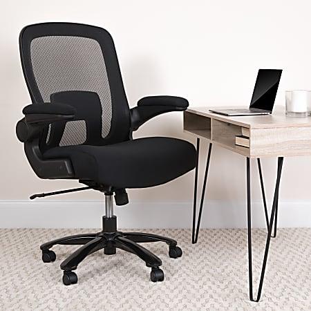 Flash Furniture Hercules Fabric High-Back Big And Tall Ergonomic Office Chair, Black