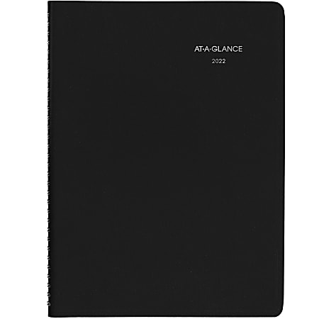 """AT-A-GLANCE® DayMinder Weekly Planner, 8"""" x 11"""", Black, January To December 2022, G52000"""
