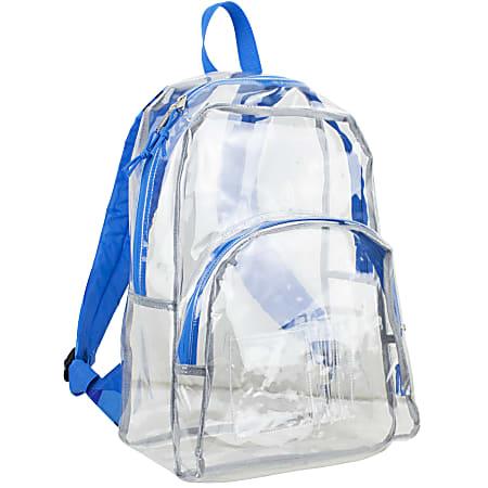 Eastsport Clear PVC Backpack, Black/Blue Print