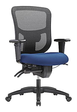 WorkPro® 9500XL Series Ergonomic Mesh/Premium Fabric Mid-Back Big & Tall Chair, Black/Royal Blue