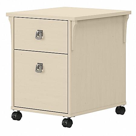 Bush® Furniture Salinas 2-Drawer Mobile File Cabinet, Antique White, Standard Delivery