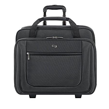 "Solo New York Bryant Rolling Portfolio Bag with 17.3"" Laptop Pocket, Black"