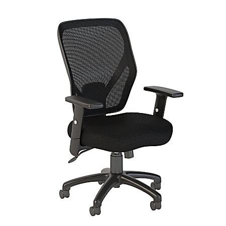 Bush Business Furniture Accord Ergonomic Mesh Back Office Chair, Black Fabric, Standard Delivery