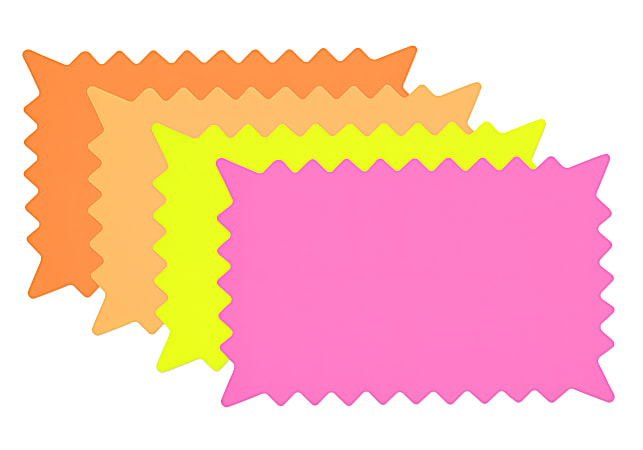 """Cosco Burst-Shape Die-Cut Paper Signs, 6 3/8"""" x 10 1/8"""", Assorted Colors, Pack Of 36"""