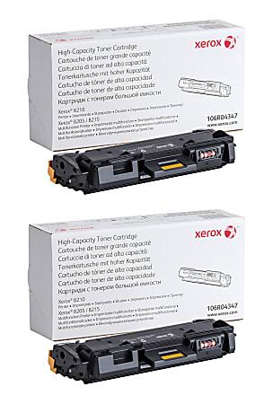 Xerox® 106R04347 High-Yield Black Toner Cartridges, Pack Of 2 Cartridges