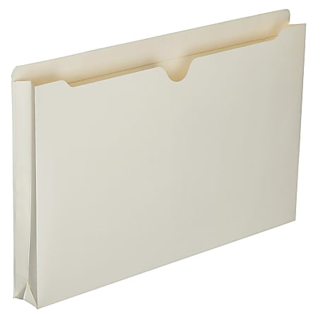 """SKILCRAFT® Manila Double-Ply Tab Expanding File Jackets, 1 1/2"""" Expansion, Legal Size Paper, 8 1/2"""" x 14"""", 30% Recycled, Box Of 50"""