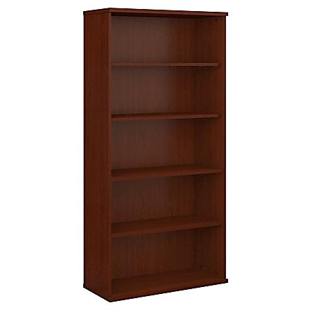 "Bush Business Furniture Components 5 Shelf Bookcase, 36""W, Mahogany, Standard Delivery"