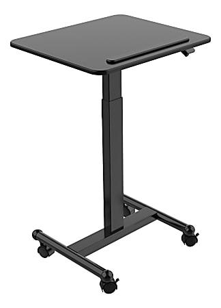 "FlexiSpot MT3 Mobile Height-Adjustable Desk, 45""H x 23-5/8""W x 20-1/2""D, Black"