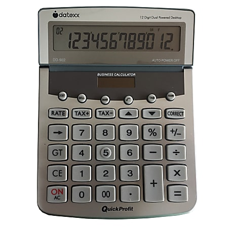 Datexx DD-922 Desktop Profit Analyzer Calculator With Journal