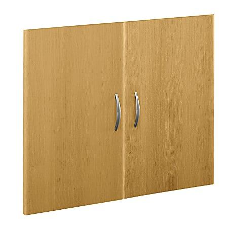 Bush Business Furniture Components Half-Height 2 Door Kit, Light Oak, Standard Delivery