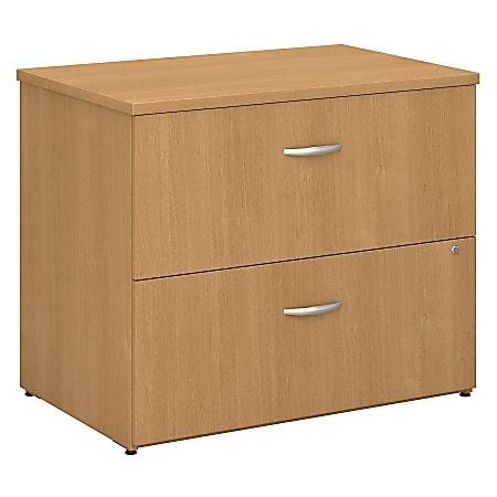 "Bush Business Furniture Components 36""W Lateral 2-Drawer File Cabinet, Light Oak/Light Oak, Standard Delivery"