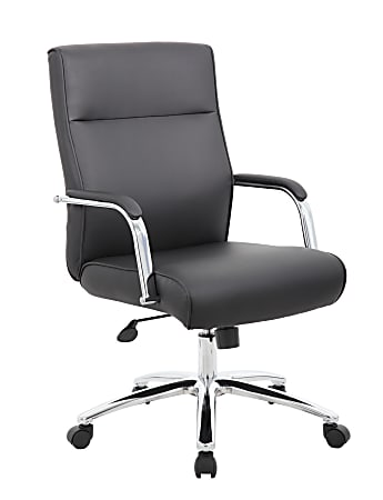 Boss Office Products Modern High-Back Conference Chair, Black
