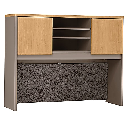 "Bush Business Furniture Office Advantage Hutch 48""W, Light Oak/Sage, Standard Delivery"