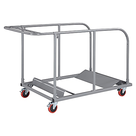 Lorell® Table Cart, For Plastic Round Folding Tables, Charcoal