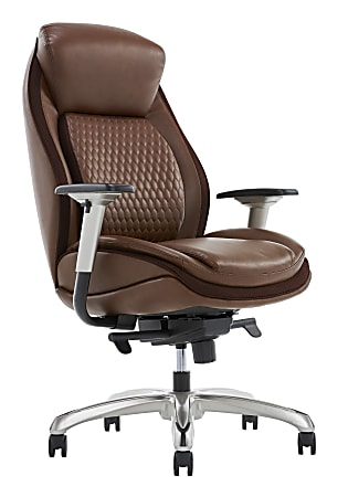 Shaquille O'Neal™ Zethus Ergonomic Bonded Leather High-Back Executive Chair, Brown
