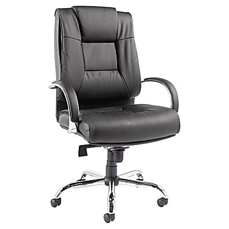 Alera® Ravino VL685 Big And Tall High-Back Swivel/Tilt Bonded Leather Chair, Black