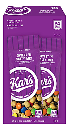 Kar's Sweet 'N Salty Mix, 2 Oz, Box Of 24 Bags