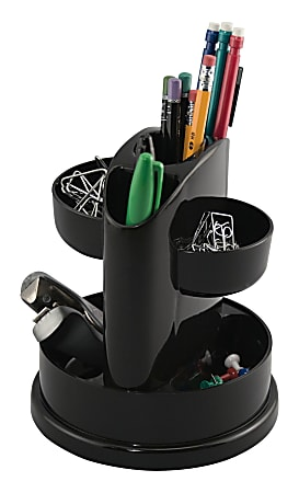 Innovative Storage Designs Desktop Organizer, 7 Compartments, Black