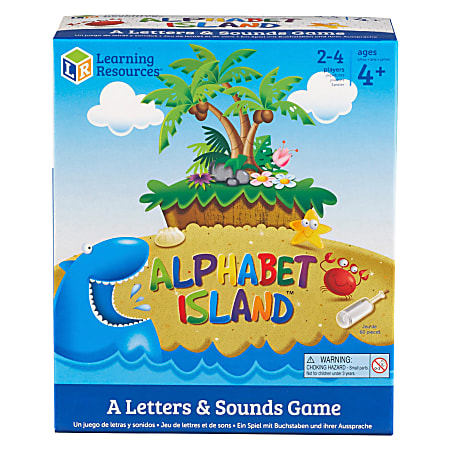 Learning Resources Alphabet Island Letter/Sounds Game - Educational - 2 to 4 Players - 1 Each