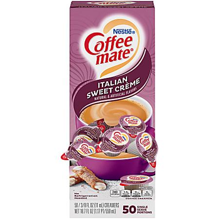 Nestlé® Coffee-mate® Liquid Creamer, Italian Sweet Crème Flavor, 0.375 Oz Single Serve x 50