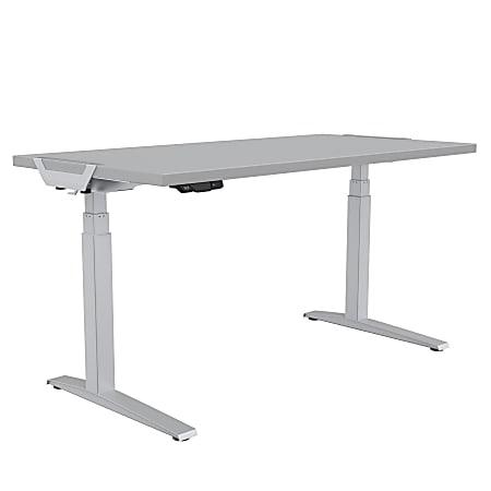 "Fellowes® Levado Height-Adjustable Desk, 48""W, Gray"