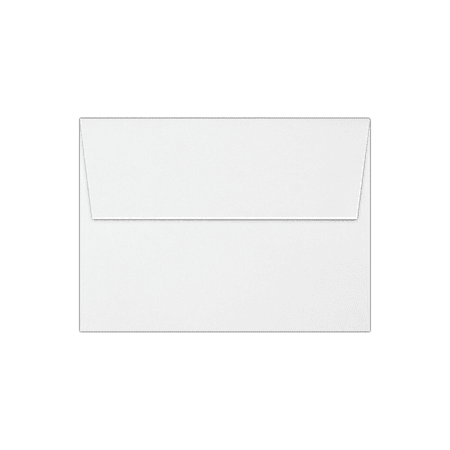 """LUX Invitation Envelopes With Peel & Press Closure, A7, 5 1/4"""" x 7 1/4"""", White, Pack Of 250"""