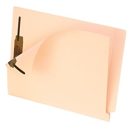 Pendaflex® Smart Shield™ End-Tab Fastener Folders, Letter Size, Manila, Pack Of 50 Folders