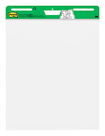 """Post-it® Super Sticky Easel Pads, 25"""" x 30"""", 30% Recycled, White, Pack Of 6 Pads"""
