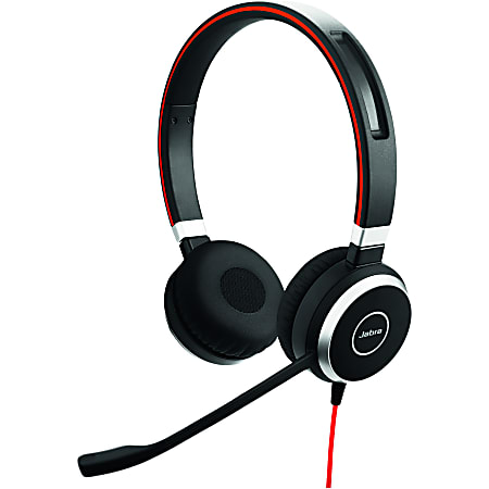 Jabra® Evolve 40 Microsoft® Lync Stereo Wired Over-The-Head Headphones