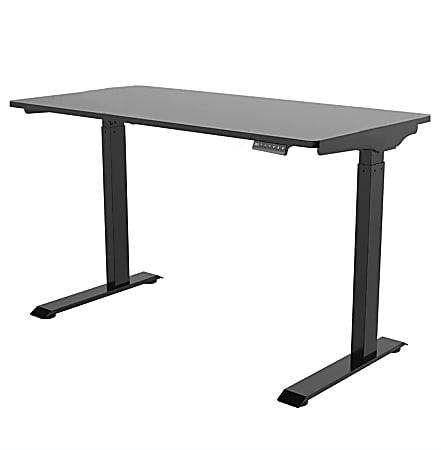 "FlexiSpot E9 Quick-Install Metal Electric Height-Adjustable Standing Desk, 48-5/8""H x 48""W x 24""D, Black"