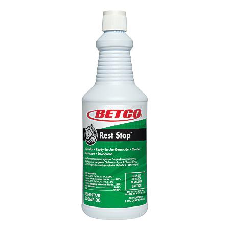 Betco® Rest Stop™ Restroom Cleaner, Citrus Floral Fresh Scent, 32 Oz Bottle, Case Of 12