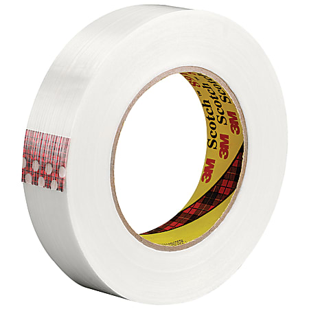 """Scotch® 8915 Strapping Tape, 3"""" Core, 1"""" x 60 Yd., Clear, Case Of 36"""