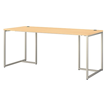 """kathy ireland® Office by Bush Business Furniture Method Table Desk, 72""""W, Natural Maple, Standard Delivery"""