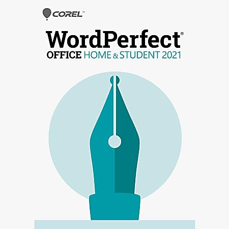 Corel WordPerfect Office 2021 Home & Student Edition (Windows)