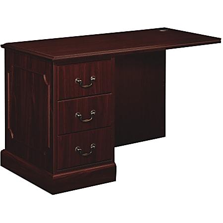 HON® 94000 Series Left Return For Right-Pedestal Desk, Mahogany