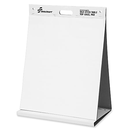 """SKILCRAFT® 70% Recycled Self-Stick Tabletop Easel Pad, 20"""" x 23"""" (AbilityOne 7530-01-577-2170)"""
