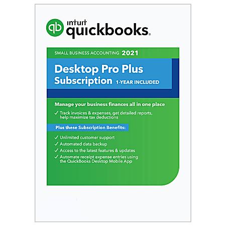 Intuit® QuickBooks® Desktop Pro Plus 2021, For 1 User, Windows®, Download