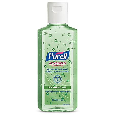 PURELL® Advanced Hand Sanitizer Soothing Gel, Fresh Scent, 4 fl oz Portable Flip Cap Bottle