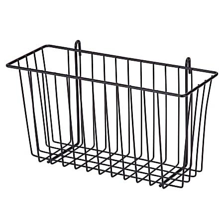 Honey-Can-Do Wire Shelf Accessory Basket, Medium Size, Black