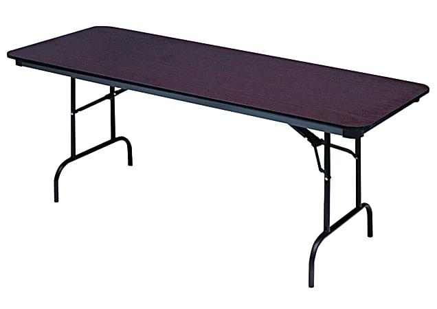 "Iceberg Premium Wood Laminate Folding Table, Rectangular, 72""W x 30""D, Mahogany/ Brown"