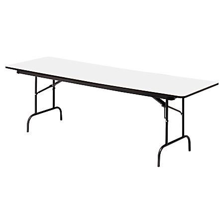 "Iceberg Premium Wood Laminate Folding Table, Rectangular, 96""W x 30""D, Gray/Charcoal"