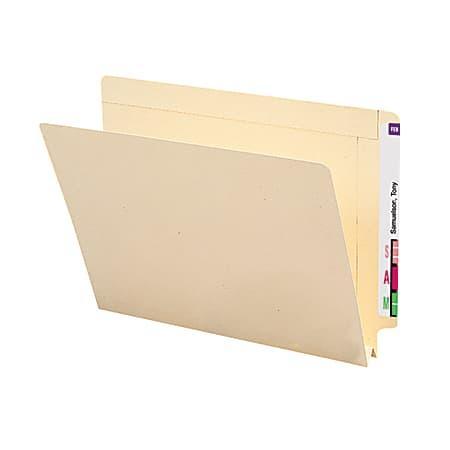 "Smead® Manila End-Tab Expanding Folders, 1 1/2"" Expansion, Letter Size, Manila, Box Of 50"